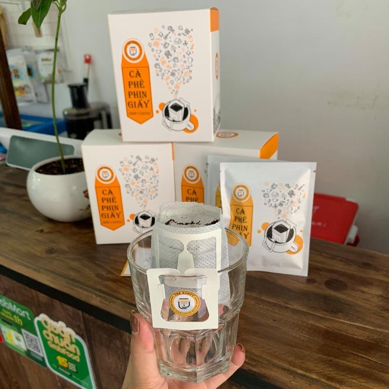 Phin giấy pha cafe với thiết kế thông minh và tiện lợi
