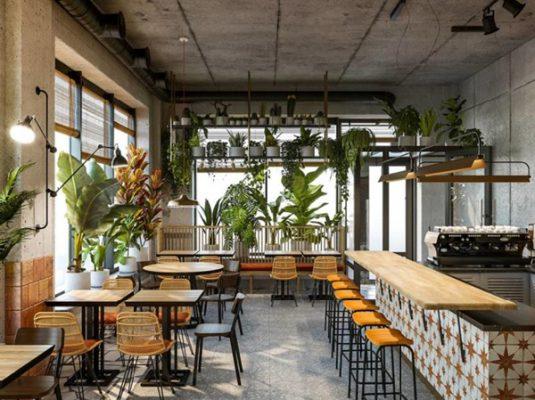 Quán cafe cần được thiết kế độc đáo, bắt mắt để có thể dễ dàng thu hút khách hàng