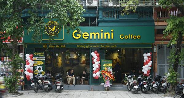 Gemini Coffee là một trong các thương hiệu cafe nhượng quyền có tiếng trên thị trường